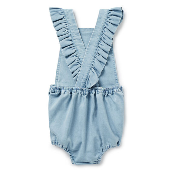 Chambray Romper  SUNBLEACHED CHAMBRAY  hi-res