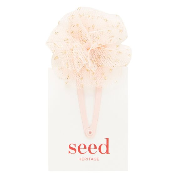 Tulle Flower Clip  ICE PINK  hi-res