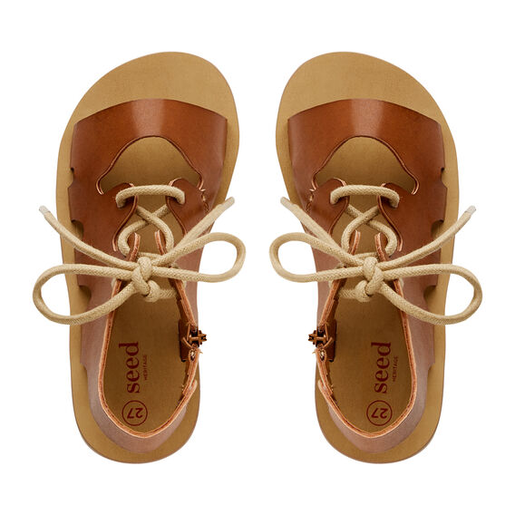 Lace Up Gladiator Sandal  TAN  hi-res