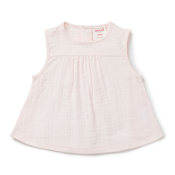 Woven Swing Top  PASTEL PINK  hi-res