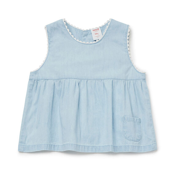 Chambray Swing Top  LIGHT CHAMBRAY  hi-res