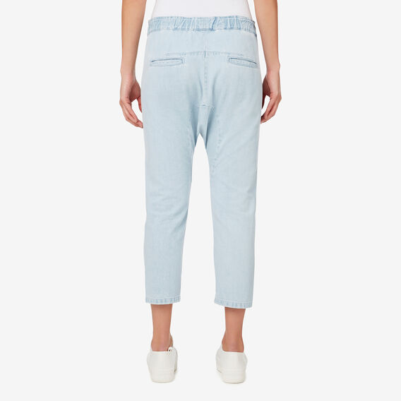 Cropped Harem Pant  ICE BLUE CHAMBRAY  hi-res