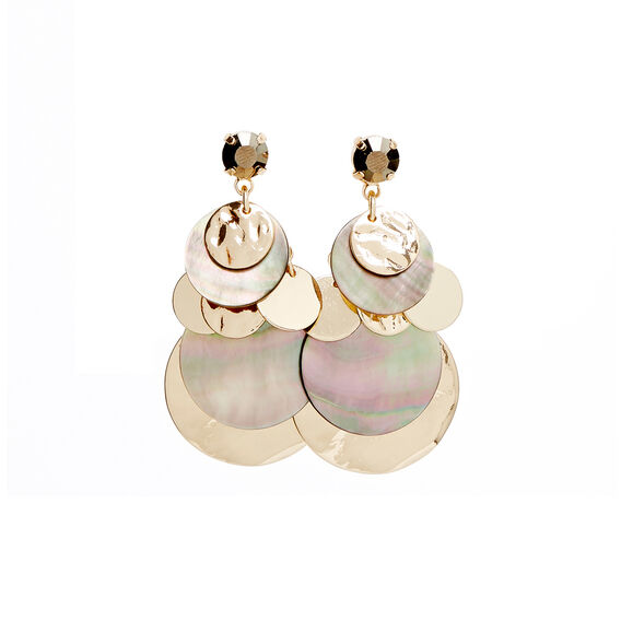 Layered Shell Earrings  MULTI  hi-res