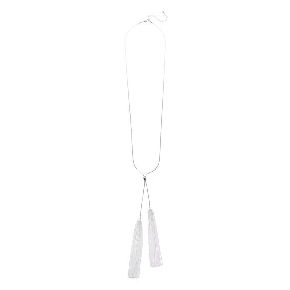 Chain Tassel Necklace  SILVER  hi-res