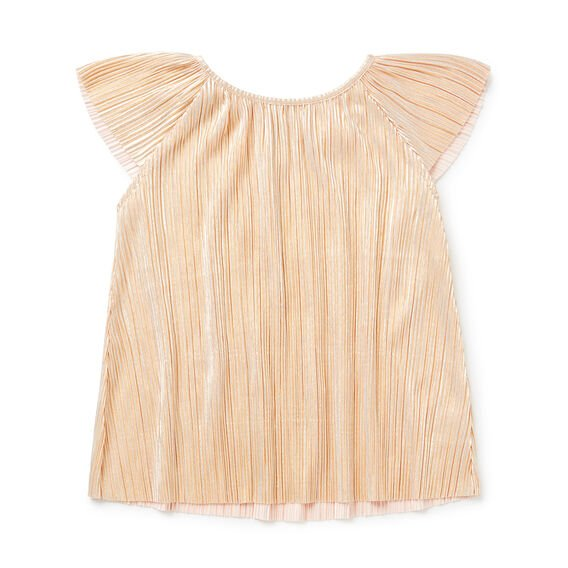 Metallic Pleat Top  GOLD  hi-res
