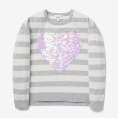 Flip Sequin Heart Sleeve  CLOUD  hi-res