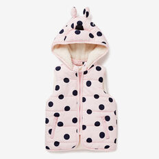 Novelty Puffa Vest  CANDY PINK  hi-res