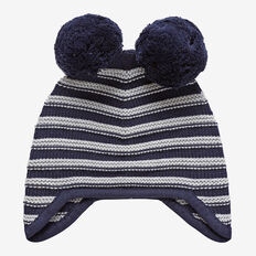 Stripe Beanie  MIDNIGHT BLUE  hi-res