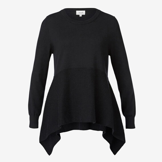 Peplum Swing Sweater  BLACK  hi-res