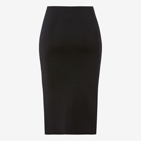 Crepe Split Skirt  BLACK  hi-res