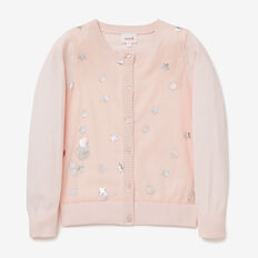 Sequin Cardigan  SODA PINK  hi-res