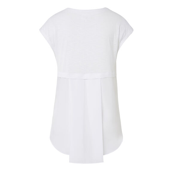 Slub Pleat Back Tee  WHITE  hi-res