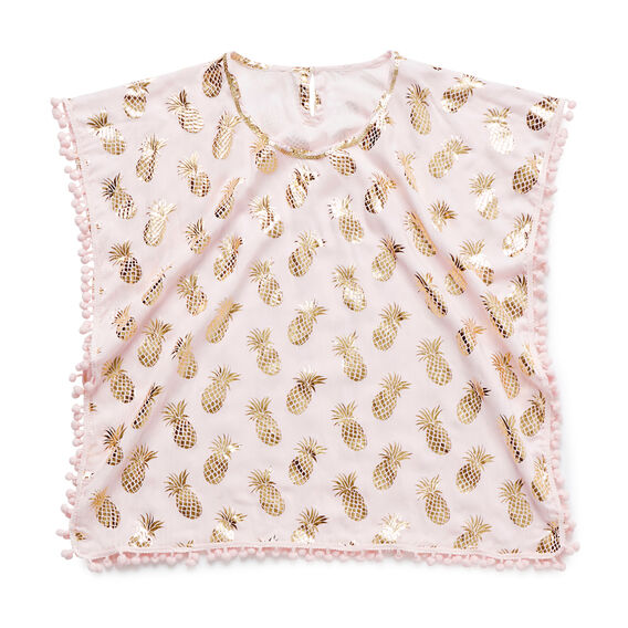 Gold Pineapple Poncho  ICE PINK  hi-res