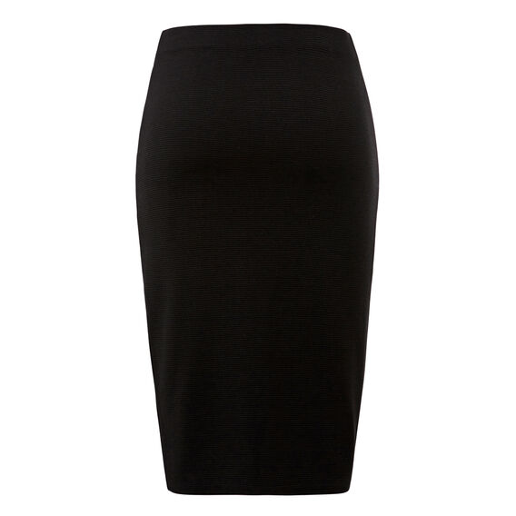 Textured Wrap Skirt  BLACK  hi-res