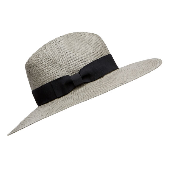 Wide Brim Panama  CHARCOAL  hi-res