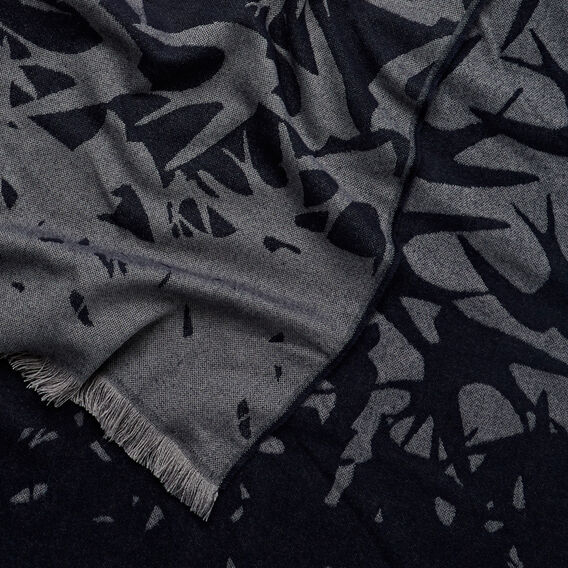 Winter Crane Scarf  GREY  hi-res