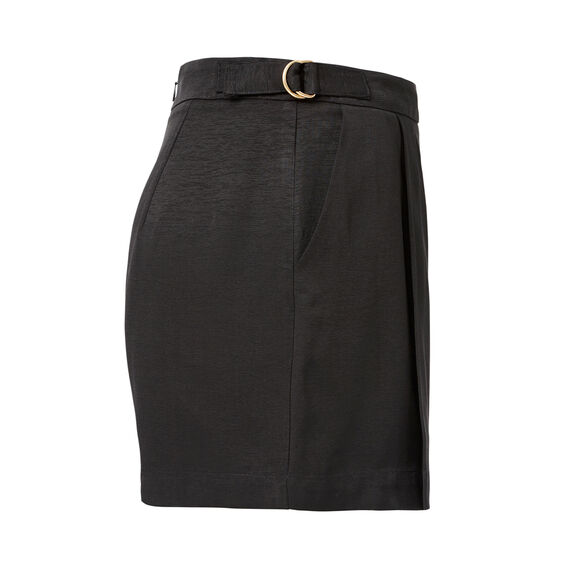 D-Ring Pleat Short  BLACK  hi-res