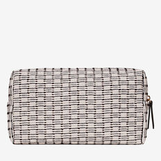 Double Zip Cosmetic Bag  BLACK/CREAM  hi-res