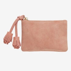 Double Tassel Coin Purse  BLUSH  hi-res
