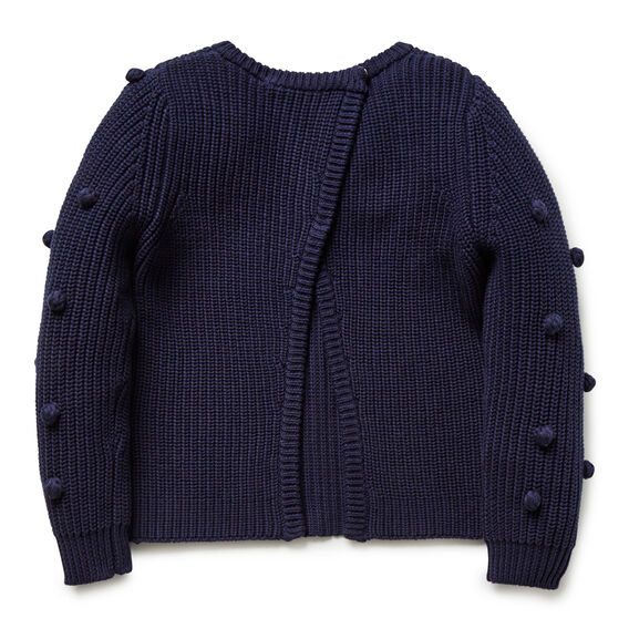 Split Back Sweater  NAVY  hi-res