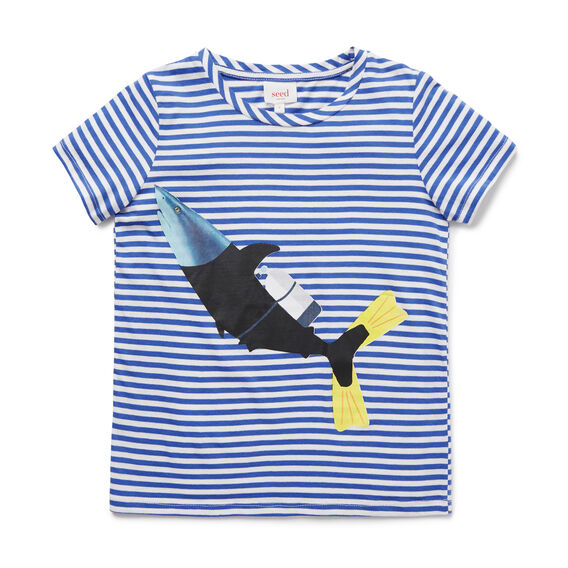 Shark Digi Tee  BLUE BOLT  hi-res