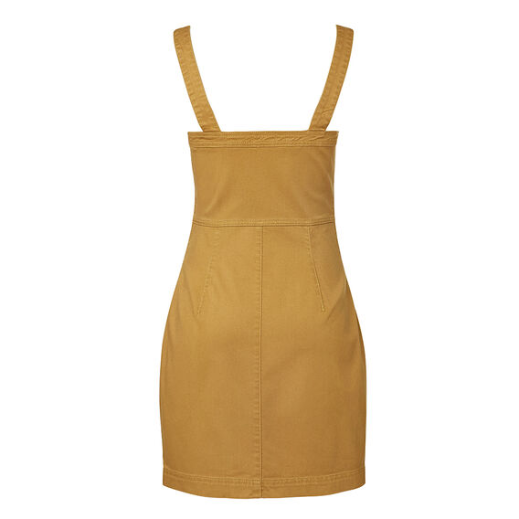Denim Zip Up Dress  MUSTARD  hi-res