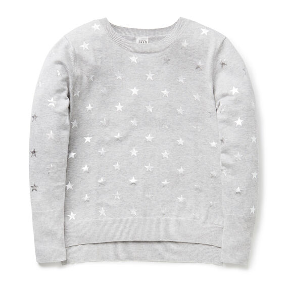 Foil Star Sweater  CLOUD  hi-res