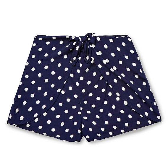 Tie-Front Short  MIDNIGHT INDIGO  hi-res