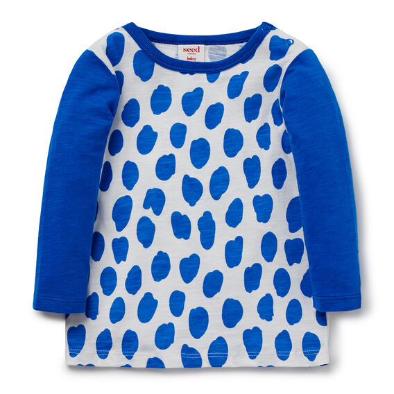 Animal Print Tee  BRIGHT COBALT  hi-res