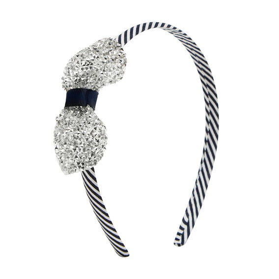Sparkle Bow Headband  NAVY  hi-res