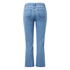 Cropped Flare Jean  MID BLUE WASH  hi-res