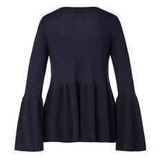 Flare Sleeve Sweater  INK BLUE  hi-res