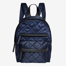 Quilted Sateen Backpack  MIDNIGHT  hi-res
