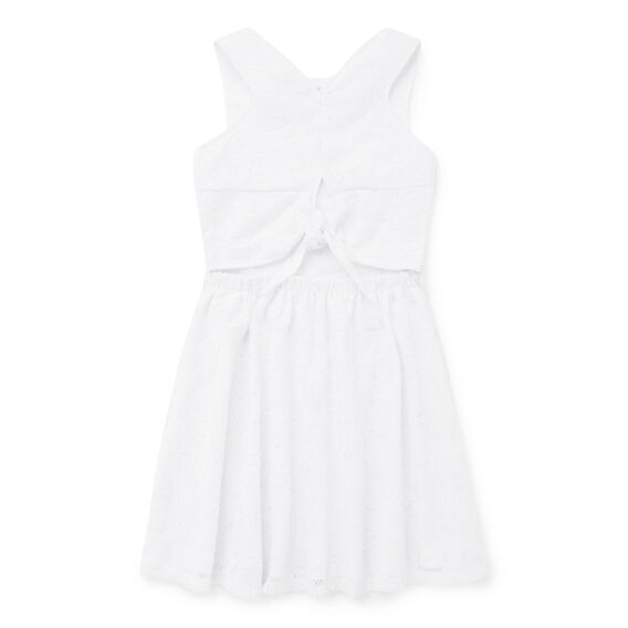 Broderie Dress  WHITE  hi-res