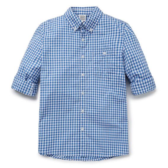 Occasion Shirt  BLUE GINGHAM  hi-res