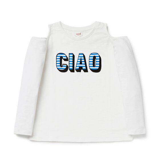 Ciao Cold Shoulder Tee  CANVAS  hi-res