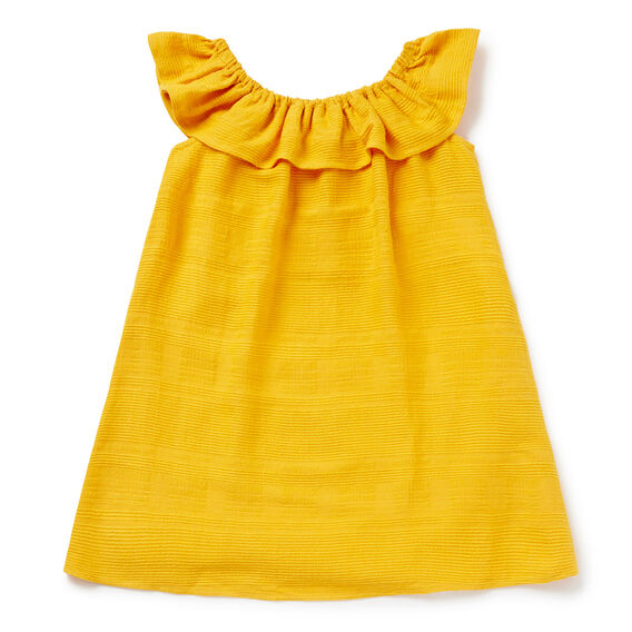 Ruffle Off-Shoulder Dress  DANDELION  hi-res