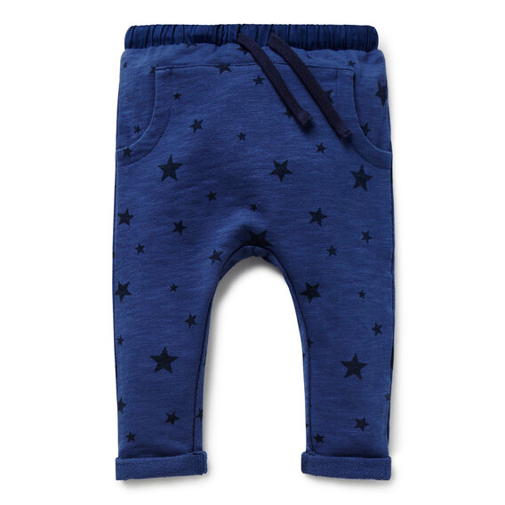 Star Print Slub Trackie  MIDNIGHT BLUE  hi-res