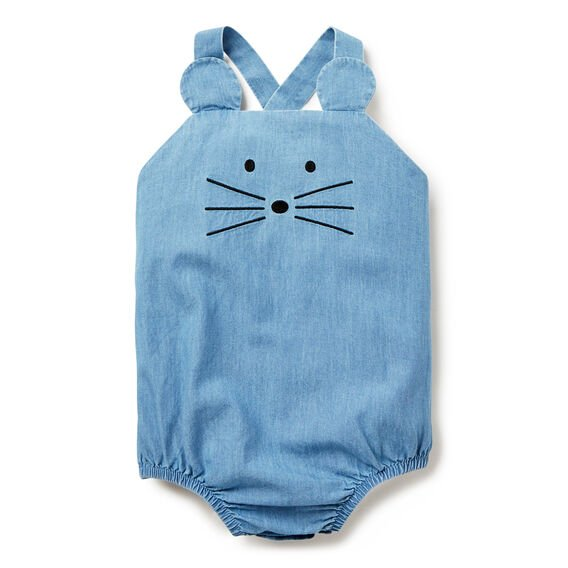 Mouse Chambray Onesie  CHAMBRAY  hi-res