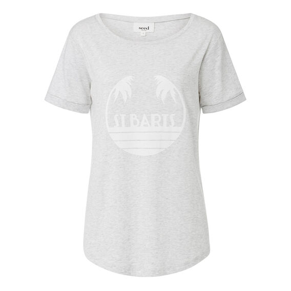 Holiday Tee  LIGHT GREY MARLE  hi-res