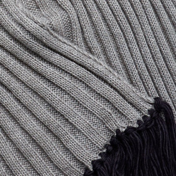 Feature Tassel Scarf  GREY  hi-res