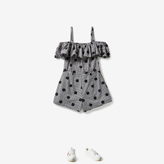 Gingham Playsuit  BLACK/CANVAS  hi-res