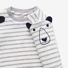 Bear Stripe Tee  CEMENT MARLE  hi-res