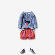 Bear Crew Sweater  BRIGHT COBALT MARLE  hi-res