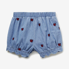 Ladybug Shorts  TRUE BLUE WASH  hi-res