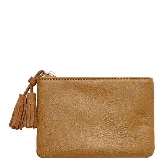Tassel Coin Purse  TAN  hi-res