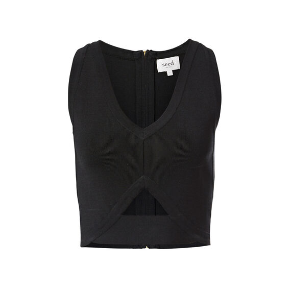 Collection Splice Crepe Bodice  BLACK  hi-res