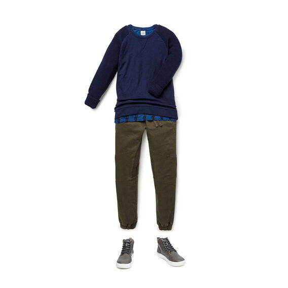Knit Sleeve Sweater  MIDNIGHT BLUE  hi-res