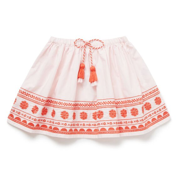 Folk Embroidered Skirt  ICE PINK  hi-res