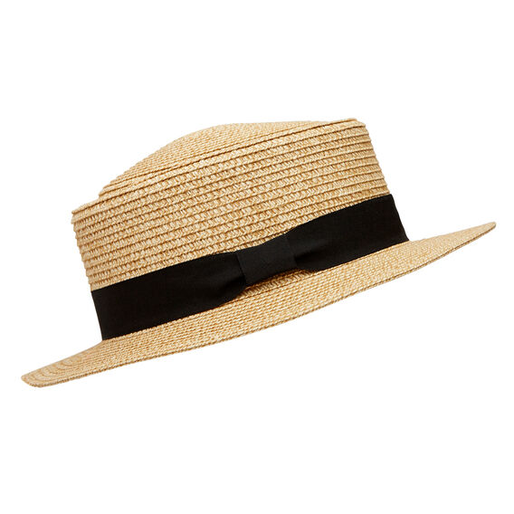 Classic Boater Hat  NATURAL  hi-res